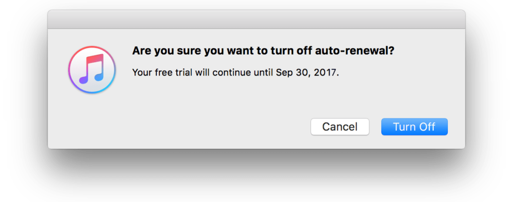 itunes cancel subscription